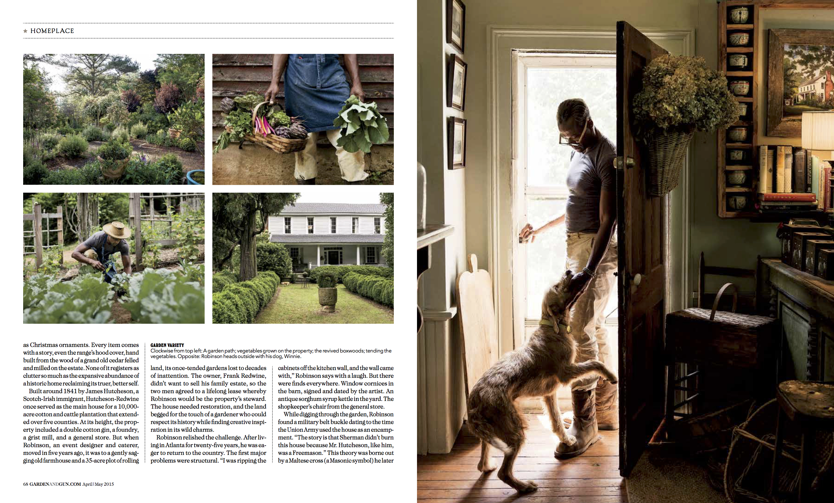Pages from Garden and Gun article by Atlanta photographer Nick Burchell