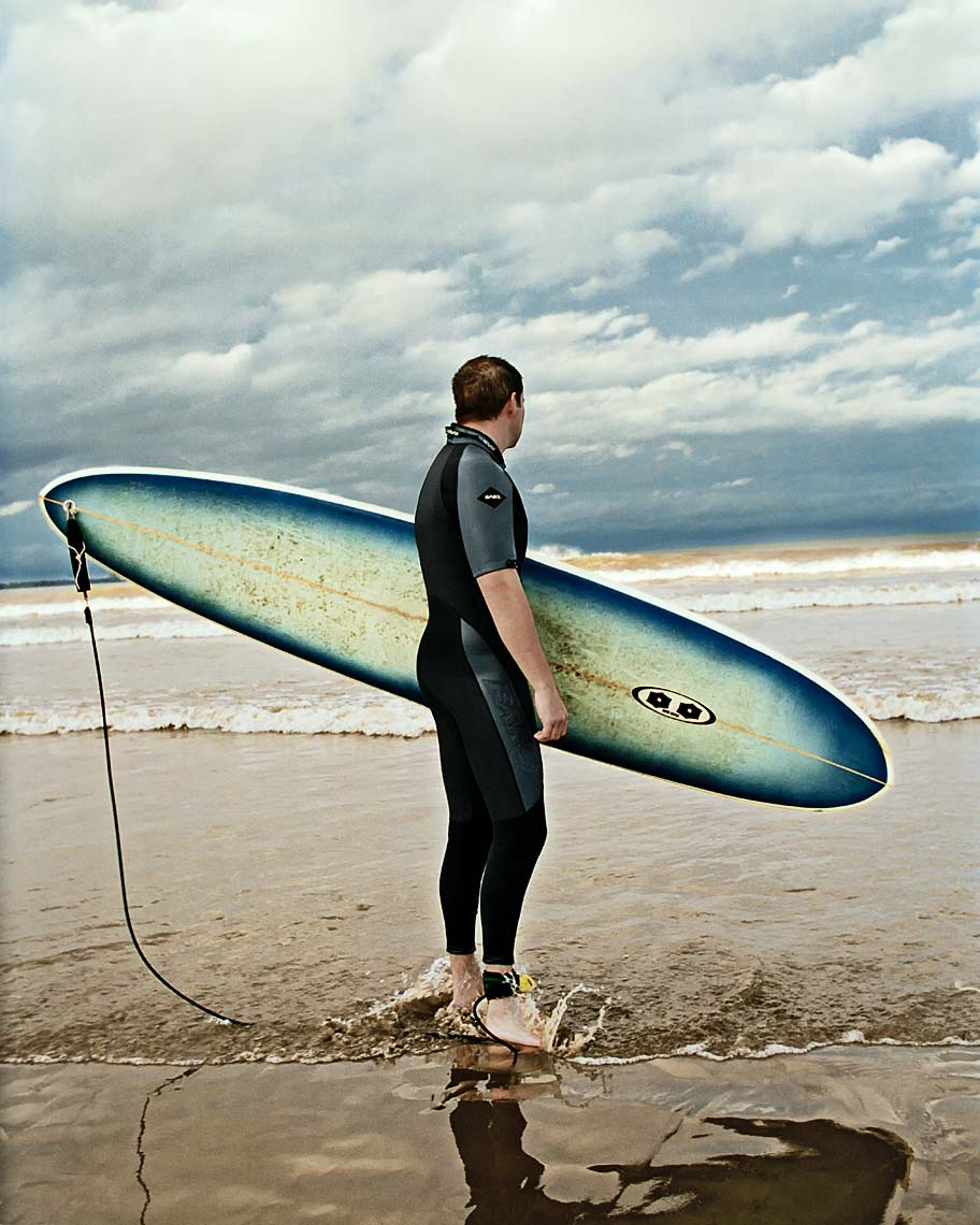 Photograph of surfer