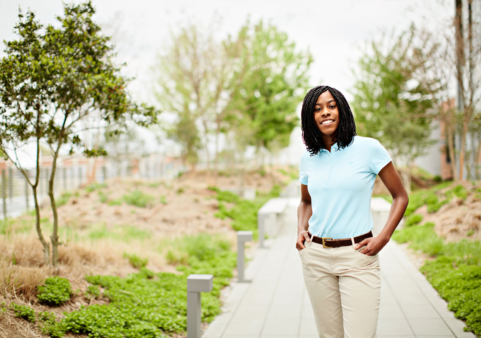Portrait of African American female engineering student. Atlanta Photographer