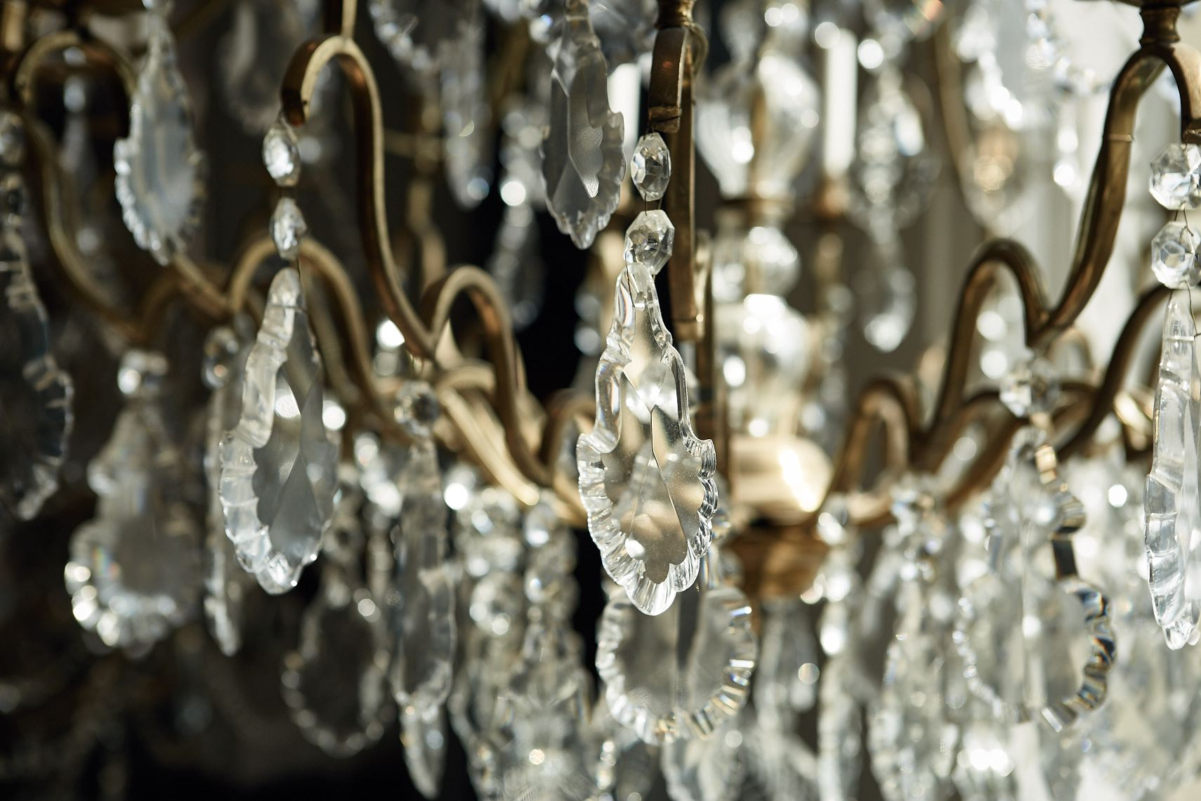 Cut glass antique chandelier by Atlanta photographer Nick Burchell