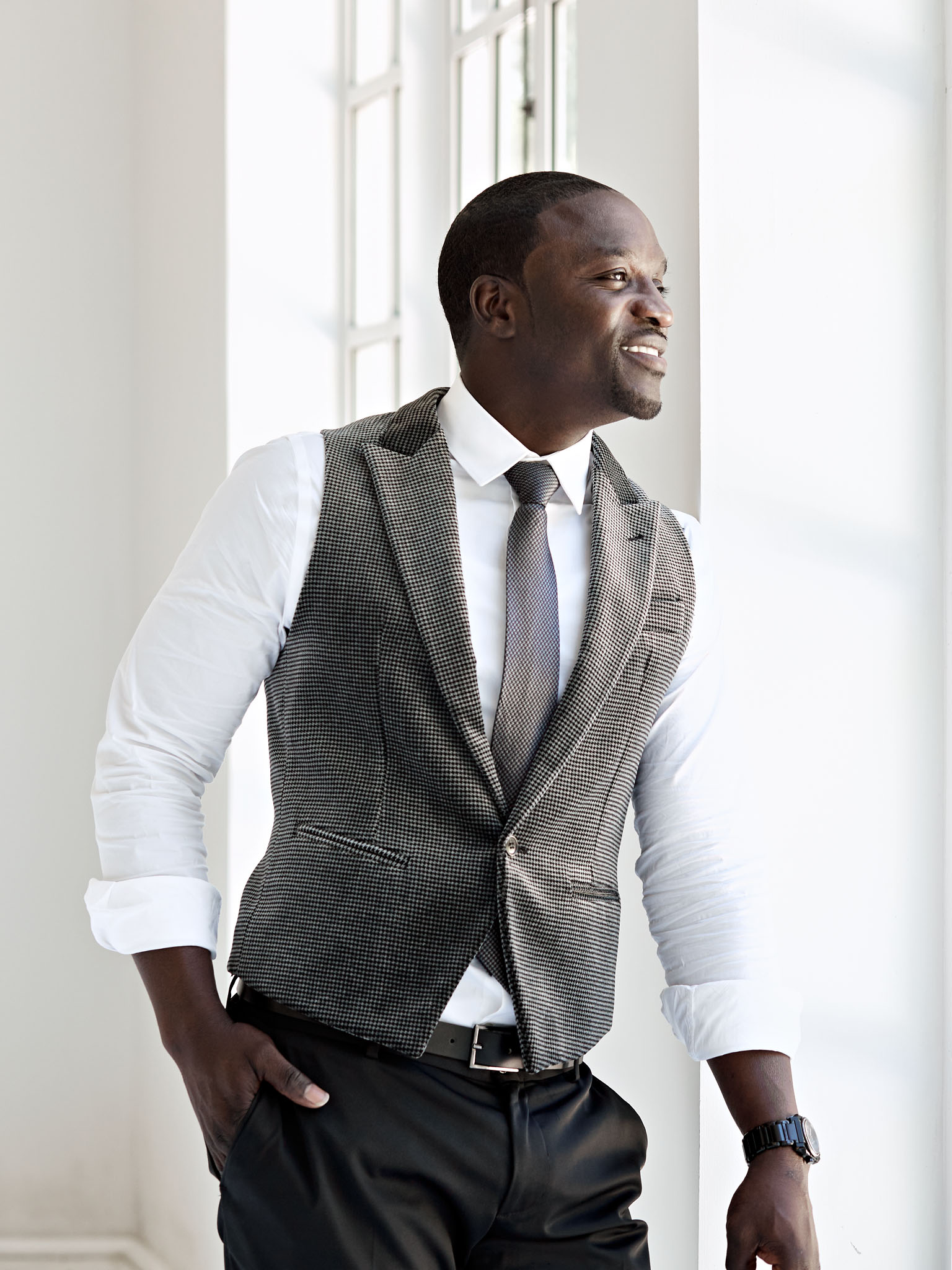 An editorial photographer portrait of Akon