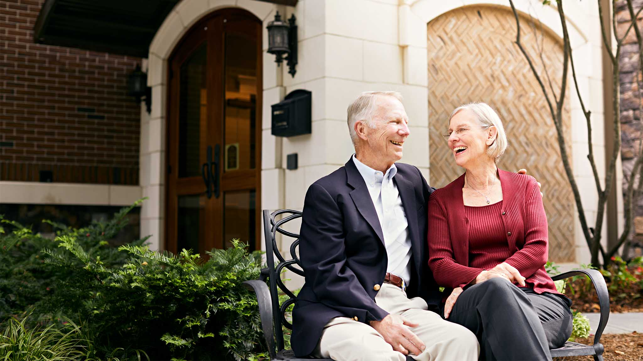 Atlanta lifestyle advertising photography showing retired senior couple